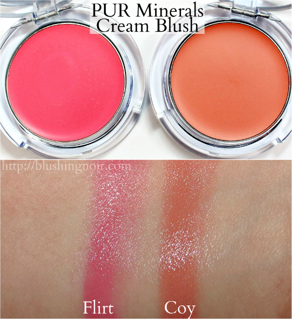 PUR Minerals Cream Blush Swatches