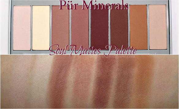 PUR Minerals Soul Mattes Palette Swatches