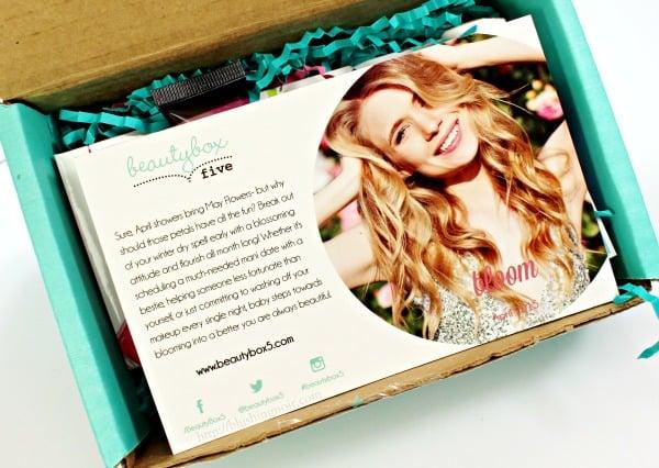 April 2015 Beauty Box 5 review