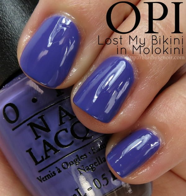 OPI Lost My Bikini In Molokini Nail Polish Swatches