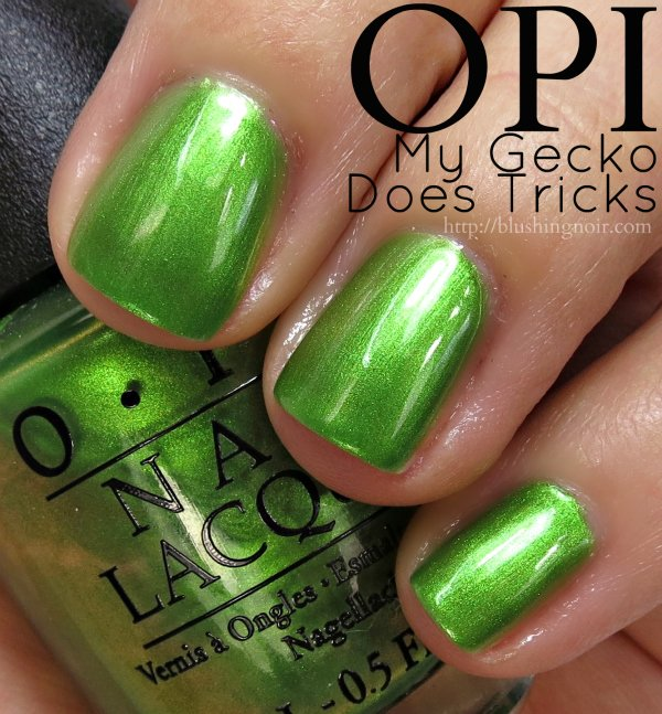 OPI My Gecko Does Tricks Nail Polish Swatches