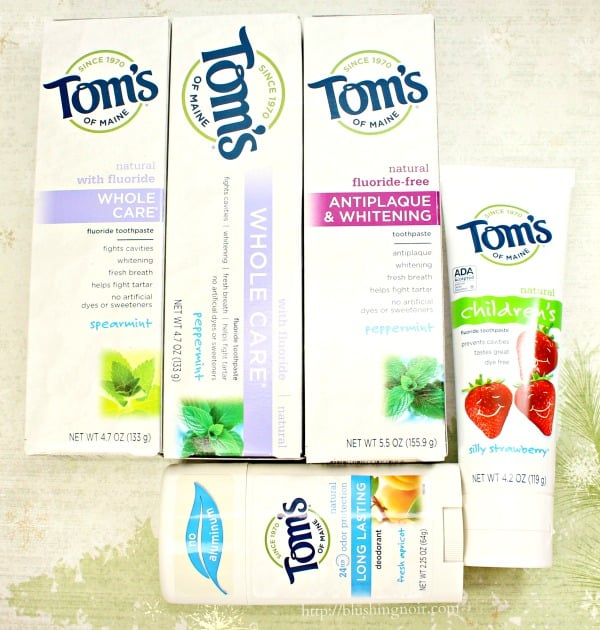 Toms of Maine Toothpaste Deoderant #NaturalGoodness