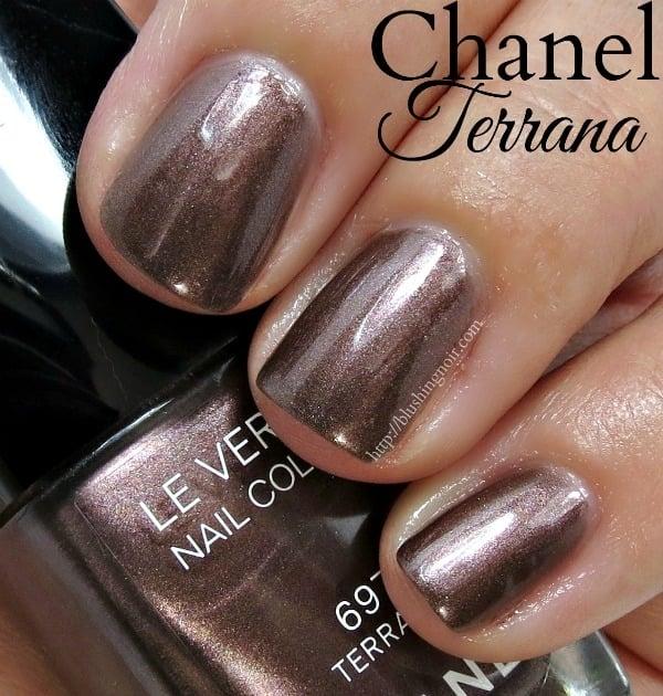 Chanel Terrana Nail Polish Swatches - Blushing Noir