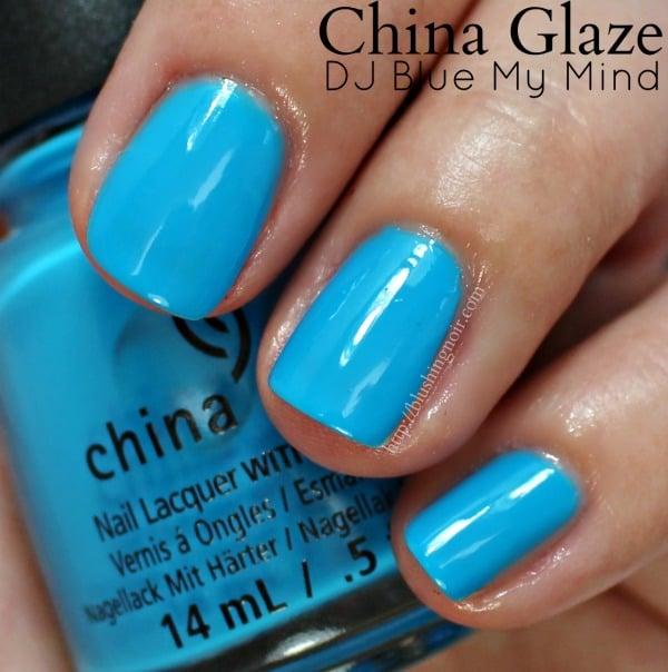 China Glaze DJ Blue My Mind Nail Polish Swatches
