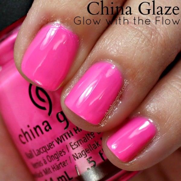 China Glaze Glow With the Flow Nail Polish Swatches