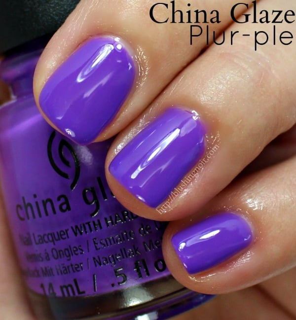 China Glaze Plur-ple Nail Polish Swatches