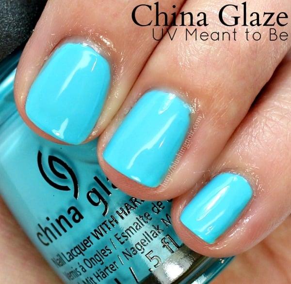 China Glaze UV Meant to Be Nail Polish Swatches
