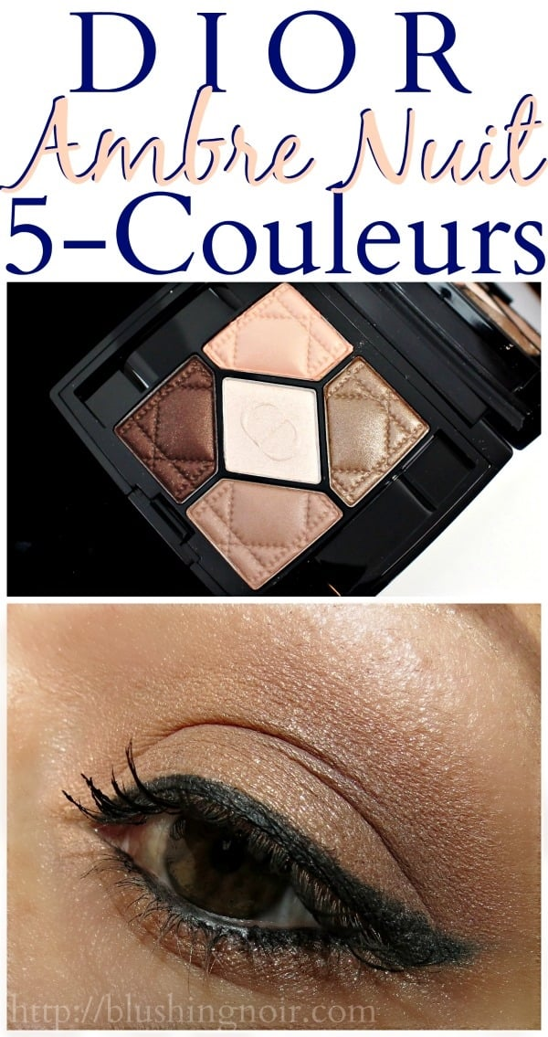 Dior Ambre Nuit 5-Couleurs Swatches eye look