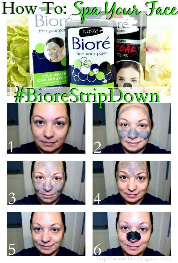 How to Spa Your Face Biore #BioreStripDown