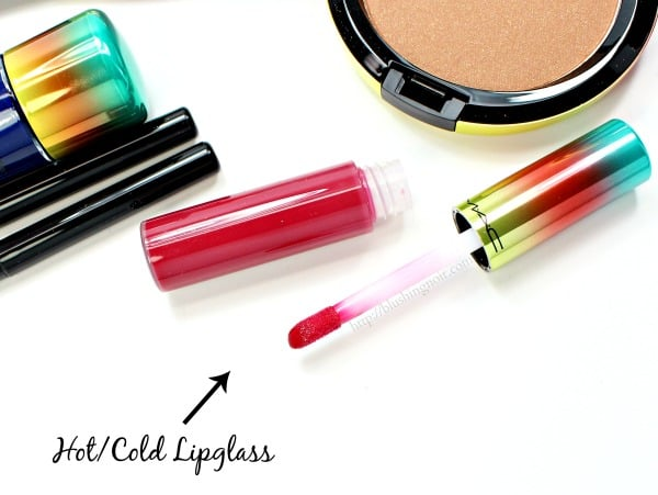 MAC HotCold Lipglass Swatches