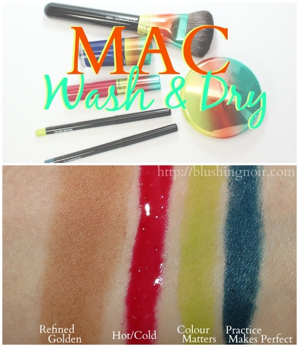 MAC Wash & Dry Swatches