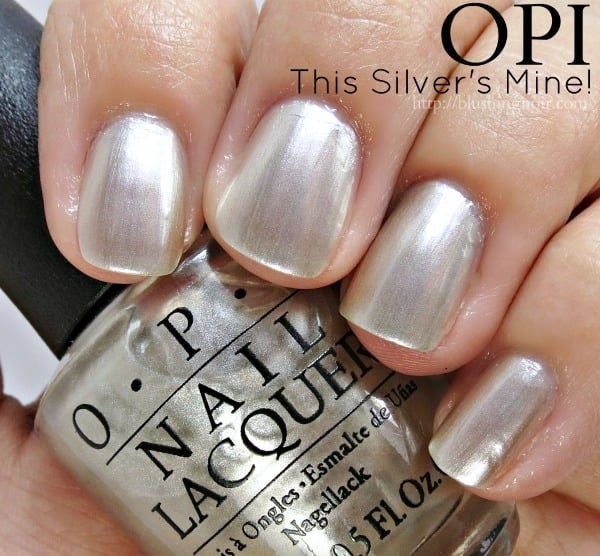 OPI This Silvers Mine Nail Polish Swatches