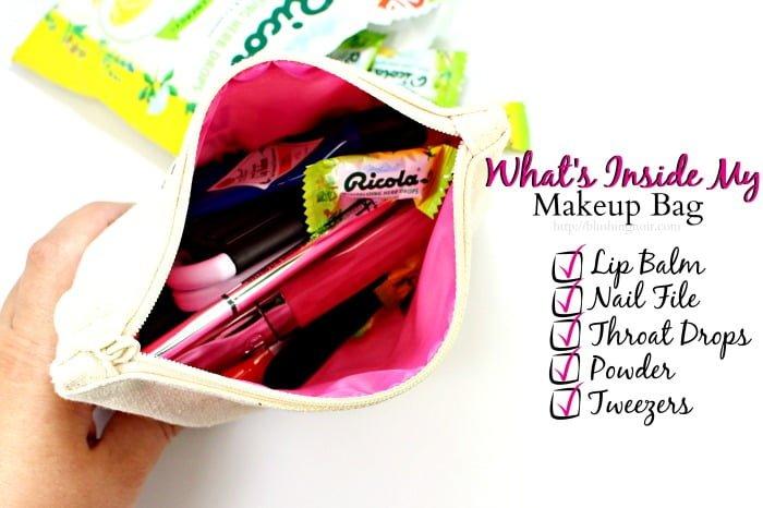 What's Inside My Makeup Bag List #swissherbs