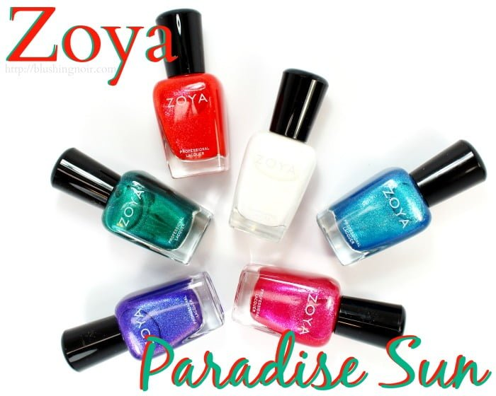 Zoya Paradise Sun Nail Polish Collection Swatches Review