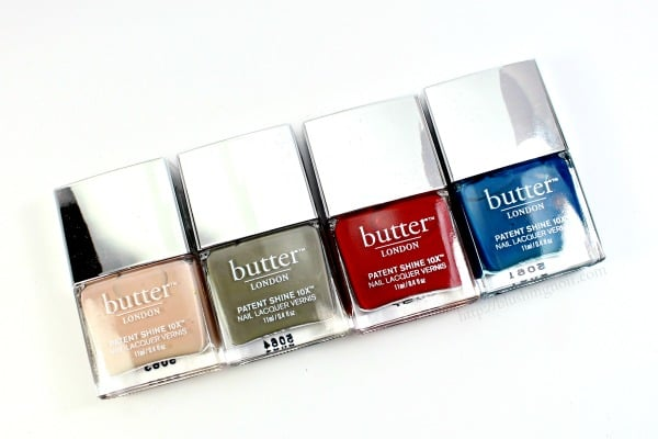 butter London Patent Shine 10x Nail Lacquers Swatches