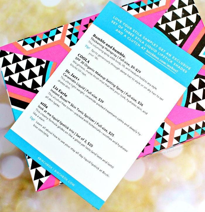 Birchbox July 2015 contents