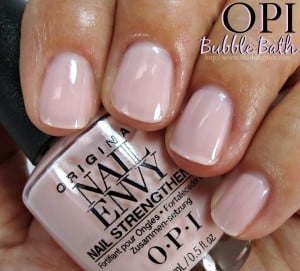 Opi Bubble Bath Nail Envy Polish Swatches