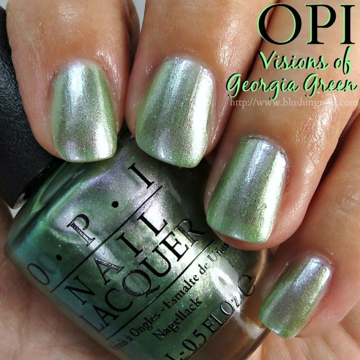 OPI Visions of Georgia Green Nail Polish Swatches