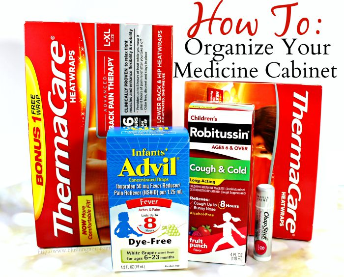 How to Organize Your Medicine Cabinet #HealthySavings