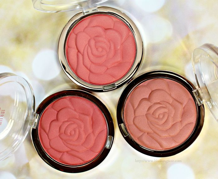 Milani Rose Powder Blush swatches review photos