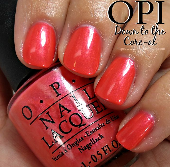 OPI Down to the Core-al Nail Polish Swatches
