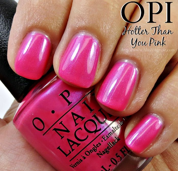 OPI Hotter Than You Pink Nail Polish Swatches
