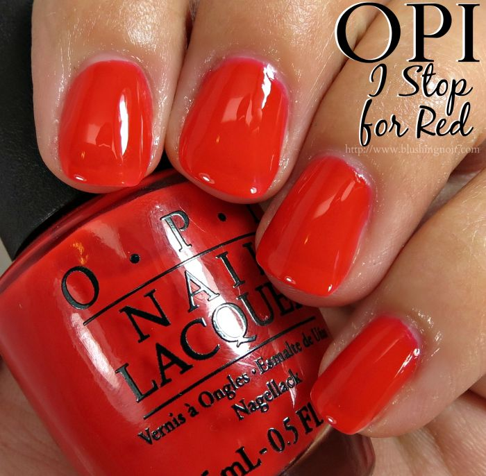 OPI I STOP for Red Nail Polish Swatches