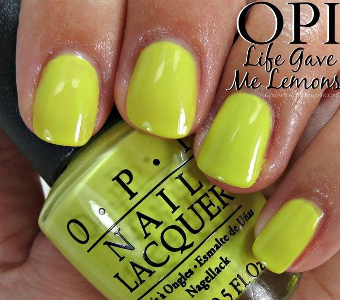 OPI Life Gave Me Lemons Nail Polish Swatches
