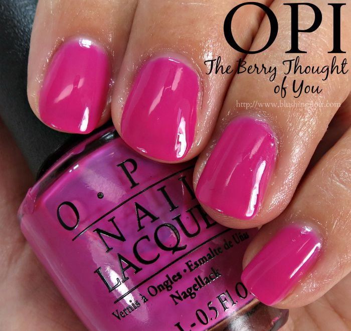 OPI The Berry Thought of You Nail Polish Swatches