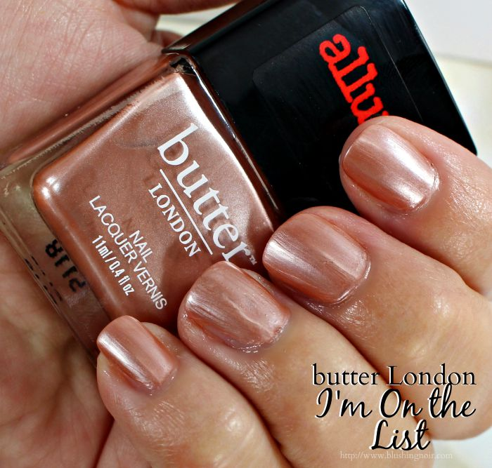 butter London I'm on the List Nail Polish Swatches