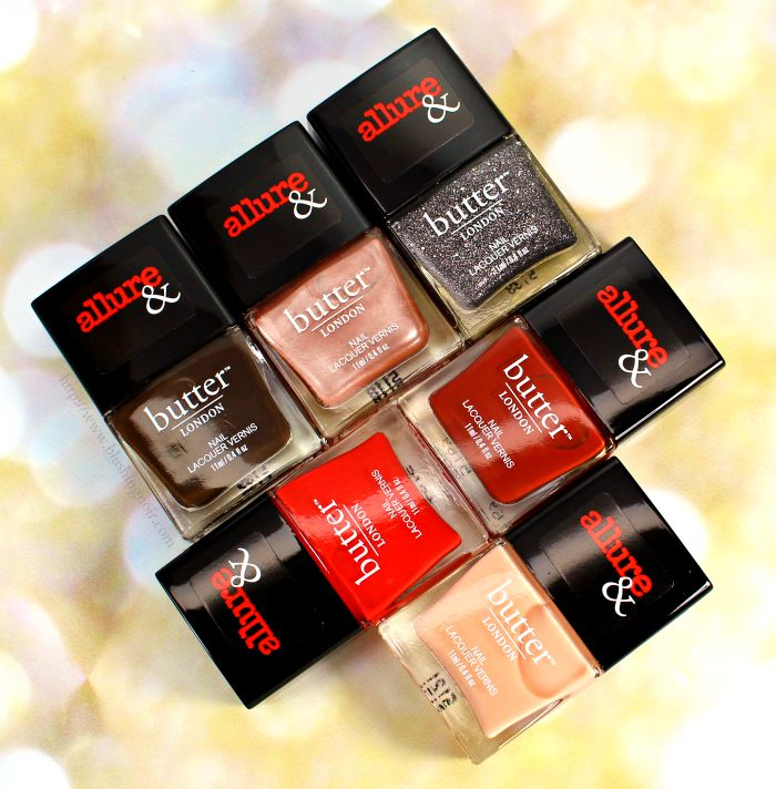 butter london allure arm candy nail polish collection swatches