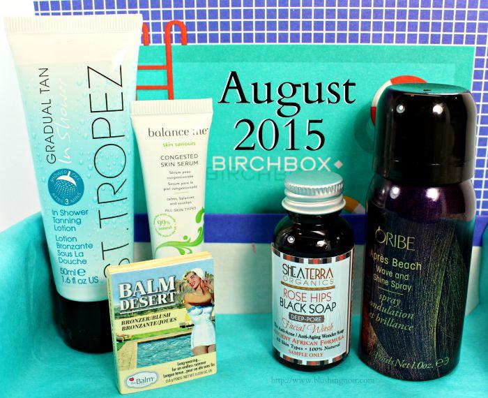 August 2015 Birchbox swatches review