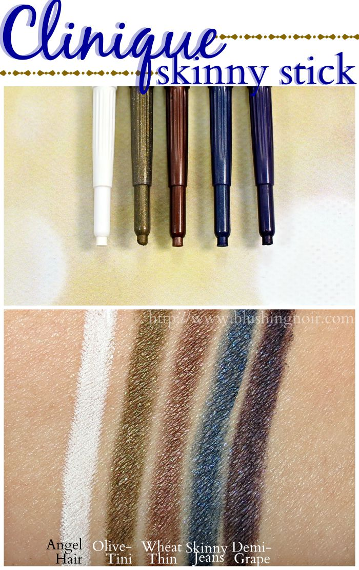 Clinique Skinny Stick Swatches
