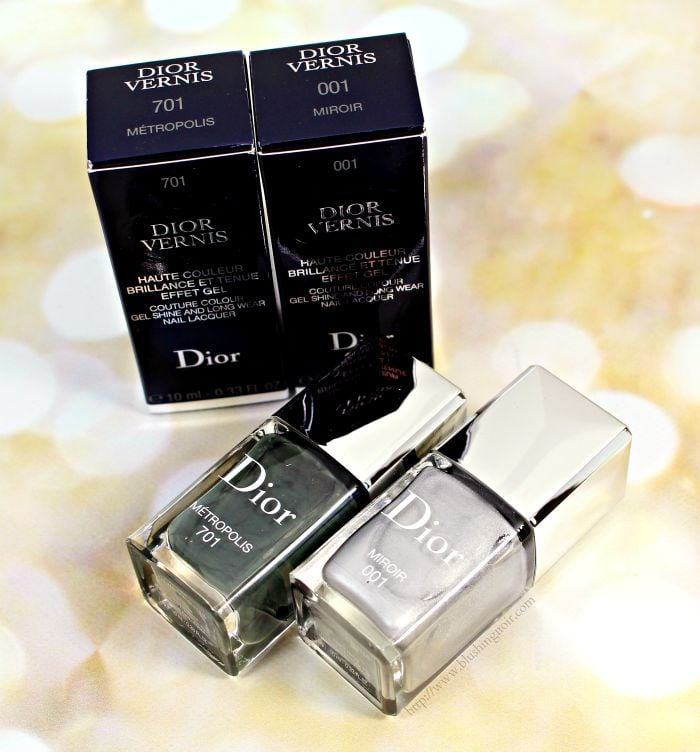Dior metropolis miroir vernis swatches review for Miroir noir review