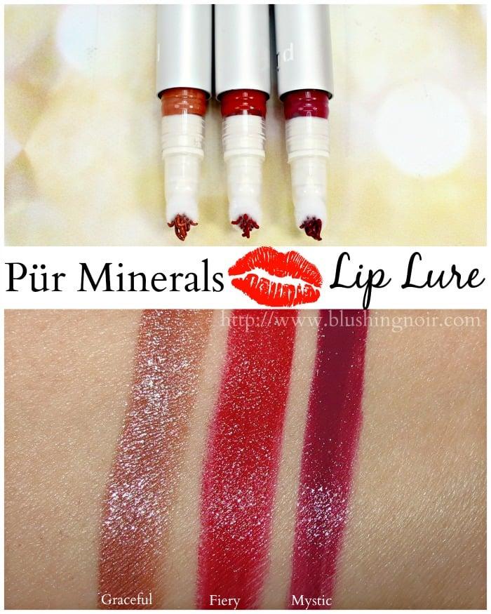 Pür Minerals Lip Lure Swatches