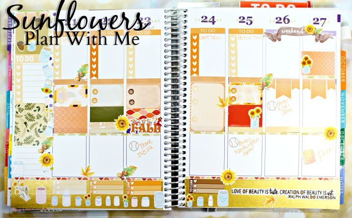 Plan With Me Sunflowers