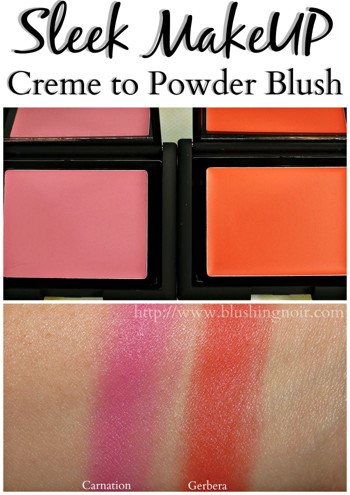 Sleek Creme to Powder Blush Swatches