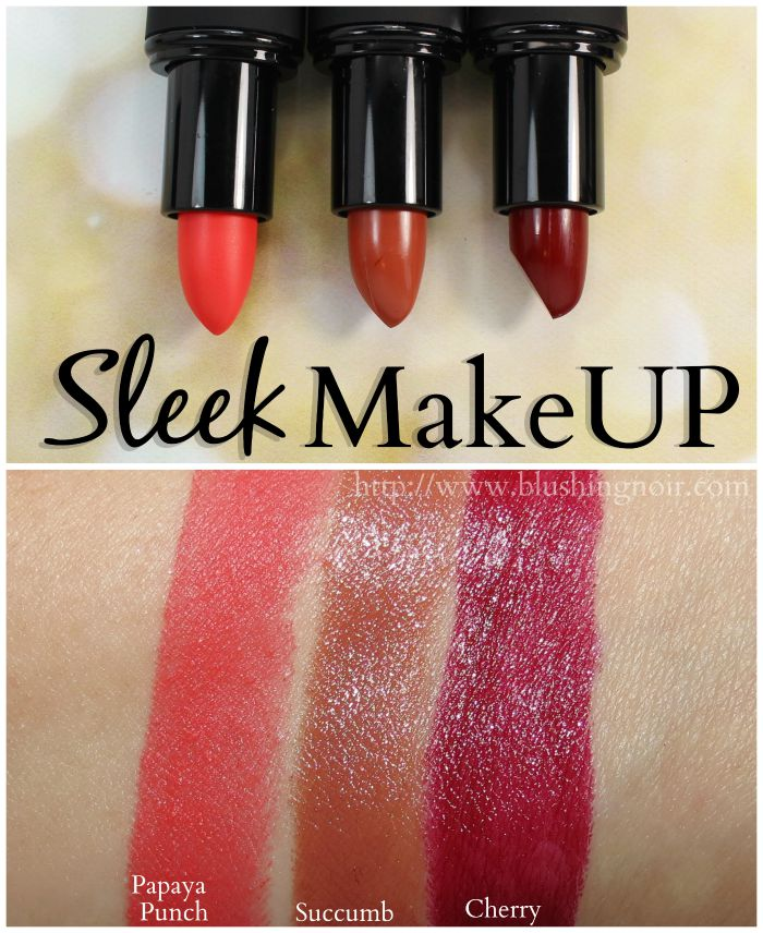 Sleek Lipstick Swatches