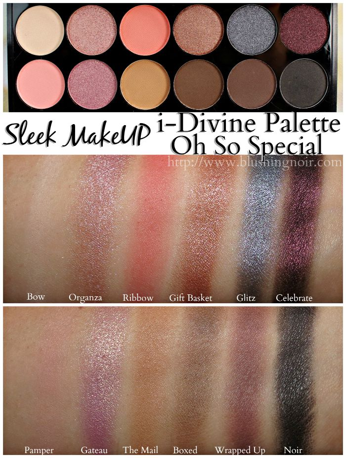 Sleep i-Divine Palette Oh So Special Swatches
