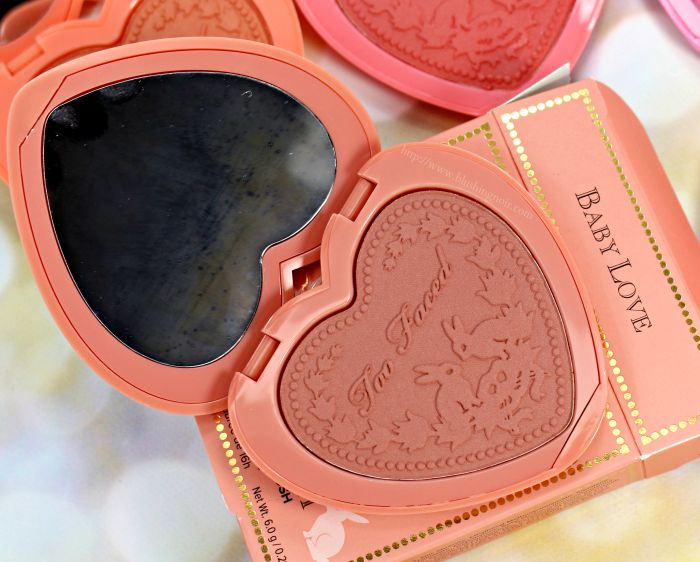 Too Faced Baby Love Blush Swatches