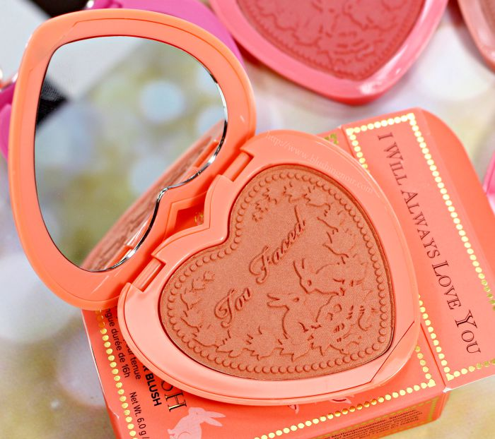Too Faced I Will Always Love You Blush Swatches