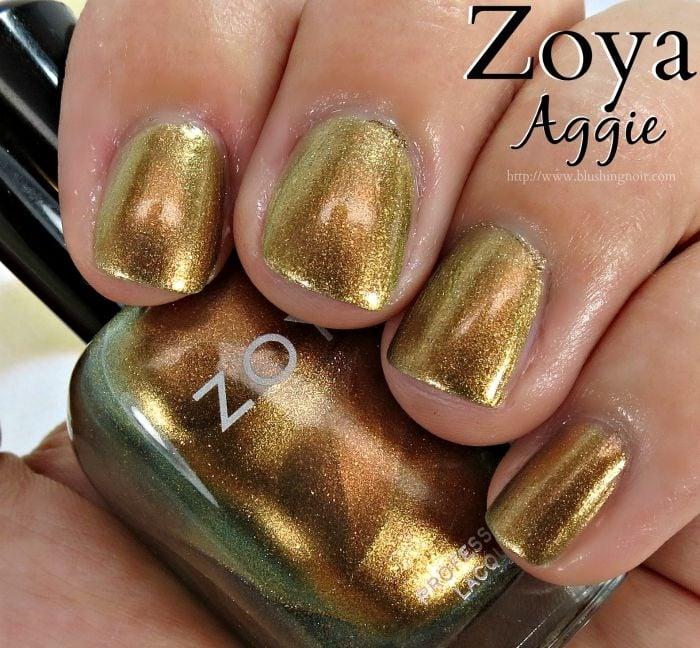 Zoya Aggie Nail Polish Swatches