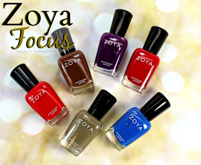 Zoya Focus Nail Polish Collection Swatches + Review