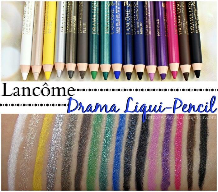 Lancome Drama Liqui-Pencil Swatches
