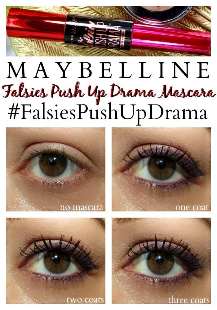 Maybelline Falsies Push Up Drama Mascara tutorial #FalsiesPushUpDrama