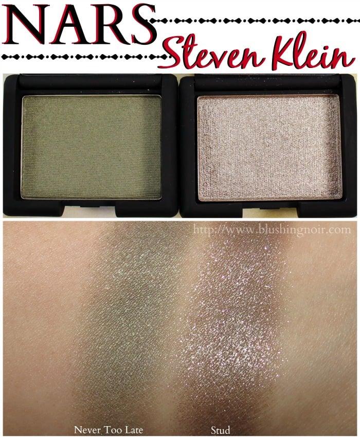 NARS Steven Klein Eyeshadow Swatches