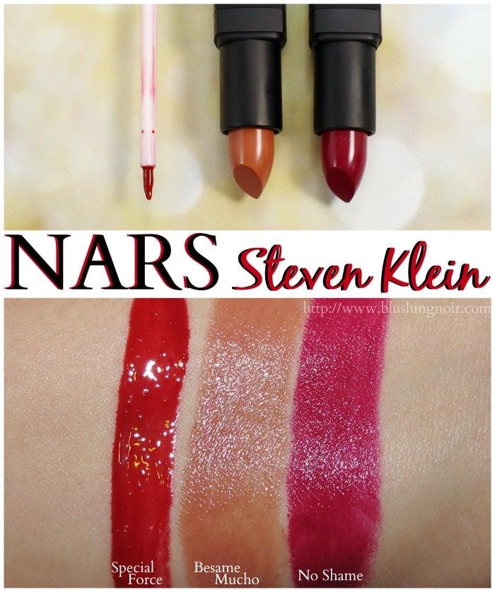 NARS Steven Klein Lipstick gloss swatches