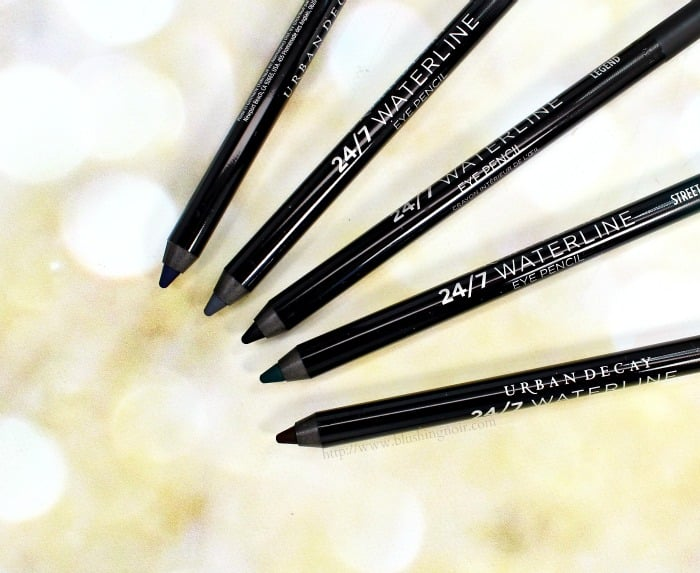 Urban Decay Waterliner swatches