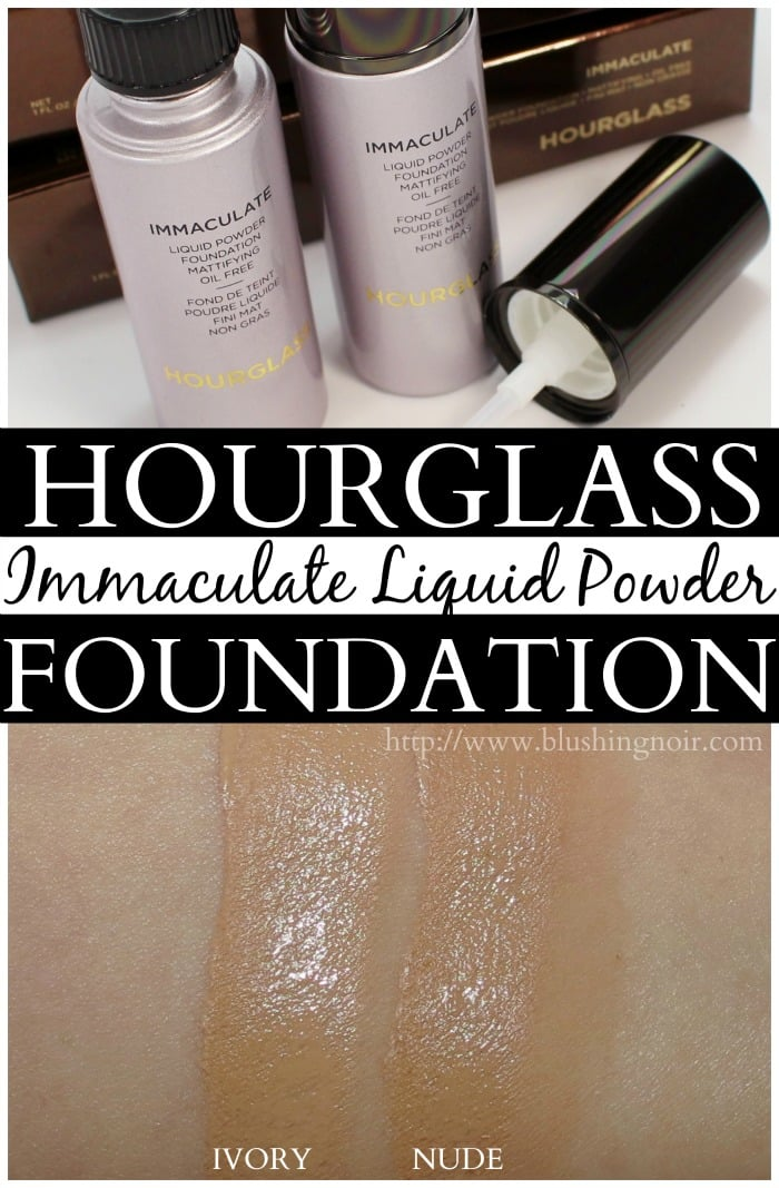 Hourglass Immaculate Liquid Powder Foundation Swatches Review Ivory Nude