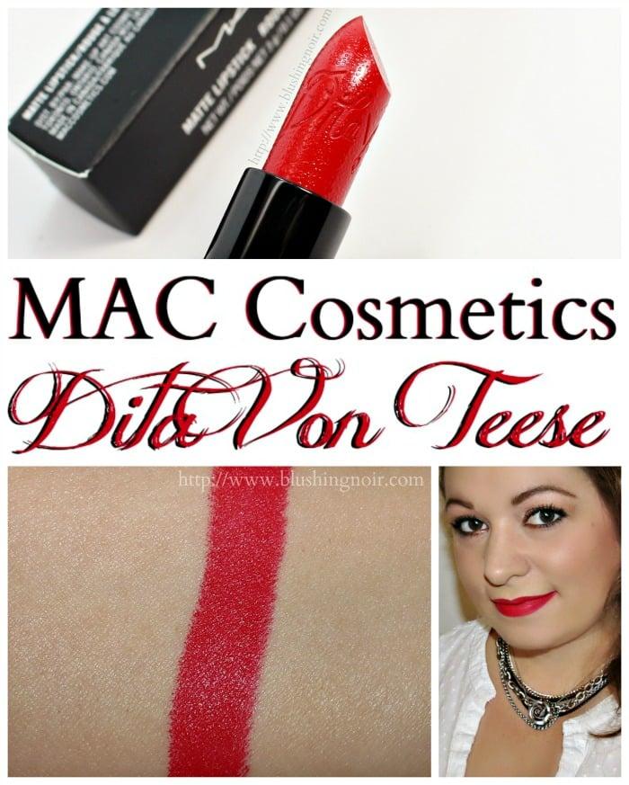 8d4293e34ae1 MAC Cosmetics Dita Von Teese Lipstick Swatches - Blushing Noir